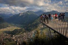 View from Harderkulm at Interlaken. Switzerland Royalty Free Stock Photography