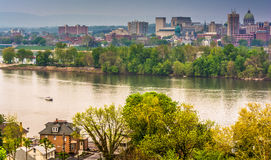 View of Harrisburg and the Susquehanna River from Negley Park, L Stock Image