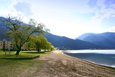 View of harrison hot springs Stock Photos