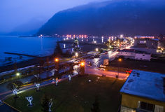 View of Harrison Hot Springs Lights Stock Image