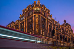 View of Harrods with christmas decorations Royalty Free Stock Image