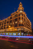 View of Harrods with christmas decorations Royalty Free Stock Images