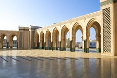 View of Hassan II mosque in Casablanca, Morocco stock photography