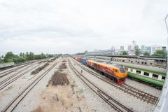 A view of Hat Yai Railway Station. Hat Yai, Songkhla, Thailand - 30 April 2018: A view of Hat Yai Railway Station. Hat Yai Station is an international railway Royalty Free Stock Images