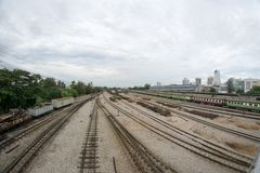A view of Hat Yai Railway Station. Hat Yai, Songkhla, Thailand - 30 April 2018: A view of Hat Yai Railway Station. Hat Yai Station is an international railway Stock Images