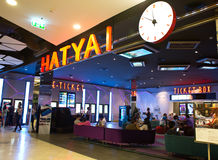 View of Hatyai Cineplex. HATYAI, THAILAND - DECEMBER 12 : View of Hatyai Cineplex on December 12, 2015 in Hatyai, Thailand. Hatyai Cineplex is the largest movie royalty free stock photos
