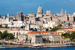 View of Havana featuring several  landmarks Royalty Free Stock Photos