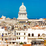 View of Havana including the dome of the Capitol Royalty Free Stock Image