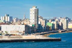 View of the Havana skyline facing the sea Royalty Free Stock Photos