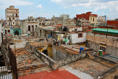 View of Havana´s roofs and houses Royalty Free Stock Photography