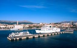 View of haven in Split. (Croatia Stock Photos