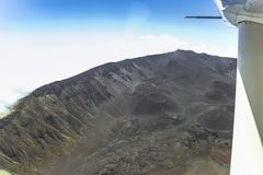 View on Hawaii island from small airplane. View on Hawaii island from a small airplane Stock Image
