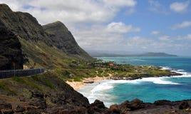 View of Hawaiian coastline Royalty Free Stock Photos