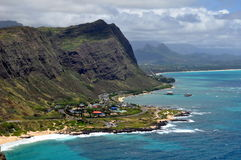 View of Hawaiian coastline Royalty Free Stock Images