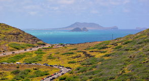 View of Hawaiian coastline Royalty Free Stock Photo