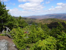 View from Haystack Mt Vermont. A view from the top of Haystack Mt Vermont looking North at Haystack Pond Royalty Free Stock Photography