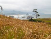 View of Haystack on the Oregon Coast Royalty Free Stock Photos