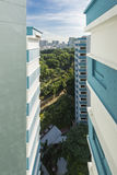 View from HDB flat in Singapore. Public housing in Singapore is managed by the Housing and Development Board (HDB). The majority of the residential housing Stock Images