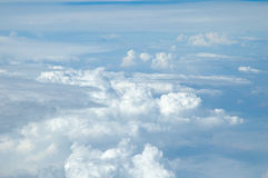 A view from heaven. The view of the clouds from above royalty free stock images