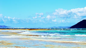 View on Heavenly beach Stock Images