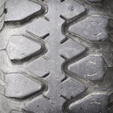 View of heavy vehicle rubber tire tread Royalty Free Stock Photo