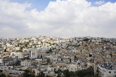 View of Hebron city. Royalty Free Stock Photography