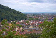 View of Heidelberg. View of rooftops of Heidelberg, Germany, from above Royalty Free Stock Photo