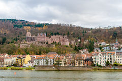 View of Heidelberg with the castle Royalty Free Stock Images