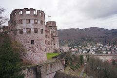View of Heidelberg castle in Germany stock photography