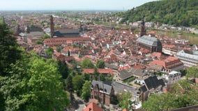 View of Heidelberg stock video footage