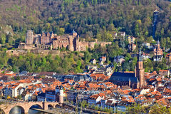View on Heidelberg at spring Royalty Free Stock Photography