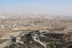 The ruins of the ancient city of Herodion and the natural scenery around it. Israel. stock photography