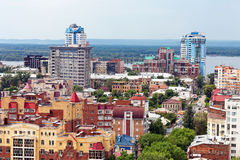 View from height on city Samara, Russia Stock Photo