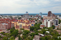 View from height on city Samara, Russia Royalty Free Stock Photography