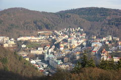 The view from the height of karlovy vary Stock Photos