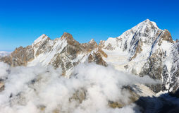 View on height mountains peak Royalty Free Stock Photos