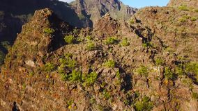 View from the height of the rocks in the Masca, Tenerife, Canary Islands, Spain. stock video
