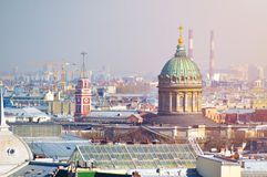 View from a height of Saint Petersburg, Russia. Stock Photo