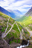 The view from the height of the trollstigen Royalty Free Stock Image