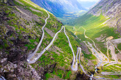 The view from the height of the trollstigen Stock Photography