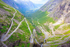 The view from the height of the trollstigen Stock Image