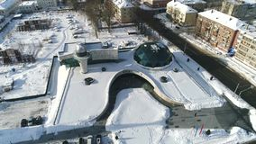 View from the height of the Yaroslavl planetarium. Valenitna Tereshkova Center. Yaroslavl, Russia