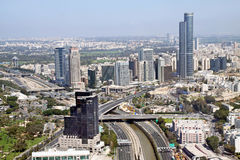 View from the heights of the Diamond Exchange in Ramat Gan, Isra Royalty Free Stock Image