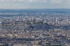 View from the heights of the Eiffel Tower at Paris. Stock Photos
