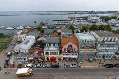 The view from the heights of the historical quarters district of Warnemunde Royalty Free Stock Photos