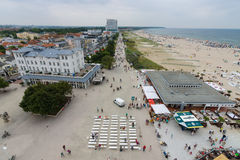 The view from the heights of the historical quarters district of Warnemunde Royalty Free Stock Photo