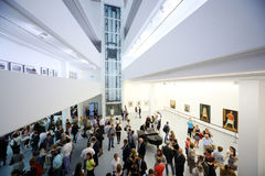 The view from the heights on photo exhibition Stock Photography