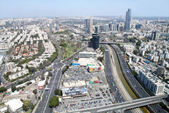 View from the heights of Tel Aviv and  Ramat Gan Royalty Free Stock Photography