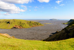 View from the heights of Vik Royalty Free Stock Photography