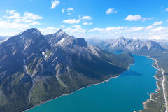View from helicopter Royalty Free Stock Photography